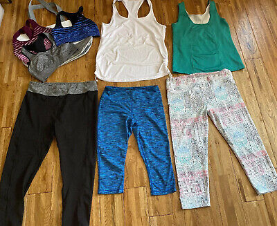 Lot of 8 Mixed LARGE Athletic Lot Fabletics Athleta Women's