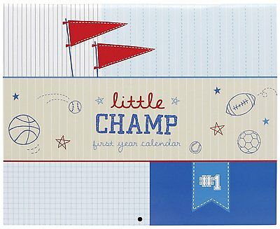 CR Gibson Baby Boy's 1st Year Calendar -- Keepsake Memory Book (Little Champ)