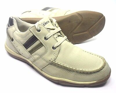 PERRY ELLIS AMERICA MENS BOAT SHOES SIZE 9 MEDIUM WIDTH SPORT CASUAL FOOTWEAR (Medium Footwear Casual Shoes)