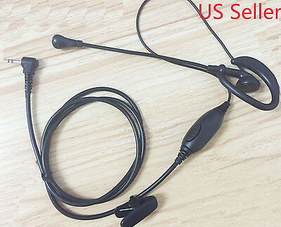 Clip Ear Headset/Earpiece Boom Mic VOX For Cobra 2 Two Way