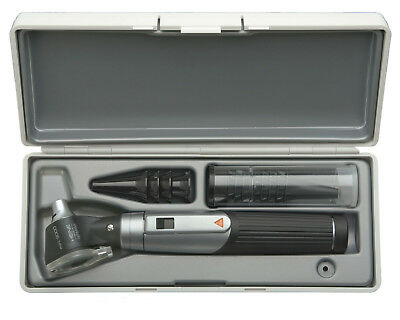 Otoscope Set Heine Mini 3000 With Battery Handle Disposable Tips In Hard Case