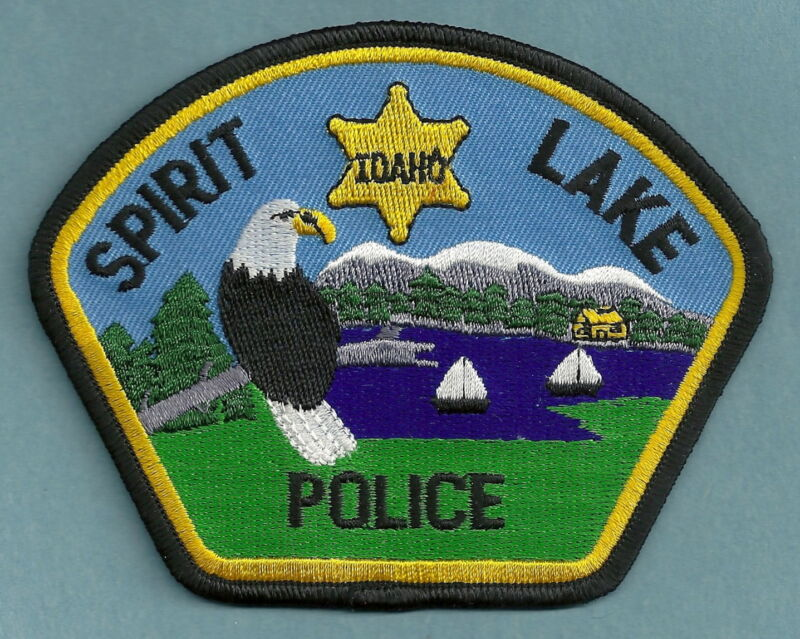SPIRIT LAKE IDAHO POLICE SHOULDER PATCH