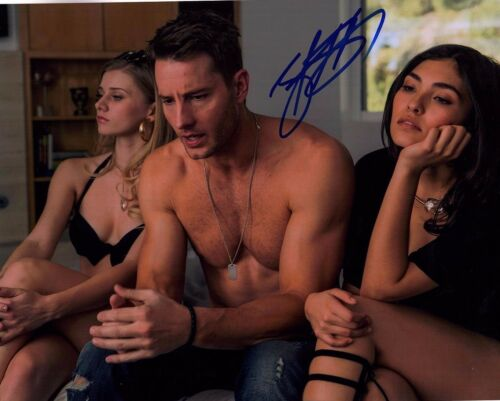 JUSTIN HARTLEY SIGNED THIS IS US 8X10 PHOTO! SHIRTLESS HUNK! HOT AUTOGRAPH