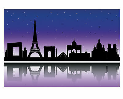City of Paris Silhouette Backdrop Banner PHOTO PROP Party Decoration Wall Mural](Party City Photo Props)