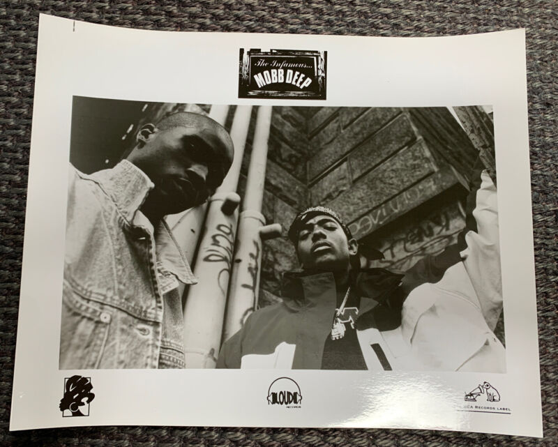 "Vintage MOBB DEEP - Loud Records O.G. 10 x 8"" PROMO ONLY 1995 photo SUPER RARE!"
