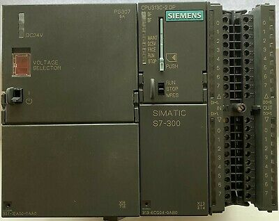 Siemens Simatic S7-300 6es7 313-6cg04-0ab0 Cpu313c-2dp Power Supply Iomodule