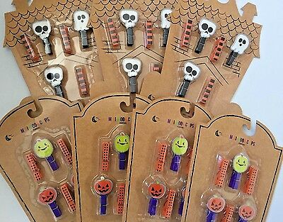 7 packs (6/pack) Halloween mini wood clips ghost skull pumpkin crafts scrapbook - Halloween 6 Clips