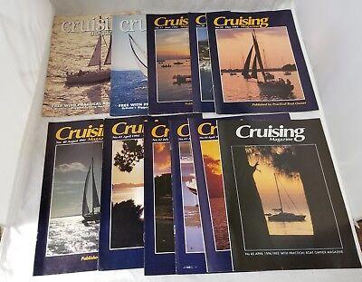Cruising Magazine Set of 11 Sailing Sailboats Published by Practical Boat Owner