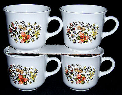 CORNING WARE CORELLE INDIA SUMMER Fall Flowers COFFEE TEA CUP MUG Orange (India Summer Glasses)