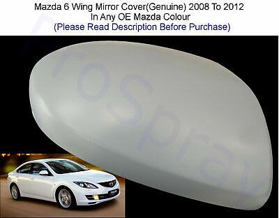 6  2007-2014 O//S RIGHT DRIVER WING MIRROR COVER CAP PRIMED MAZDA 2 3