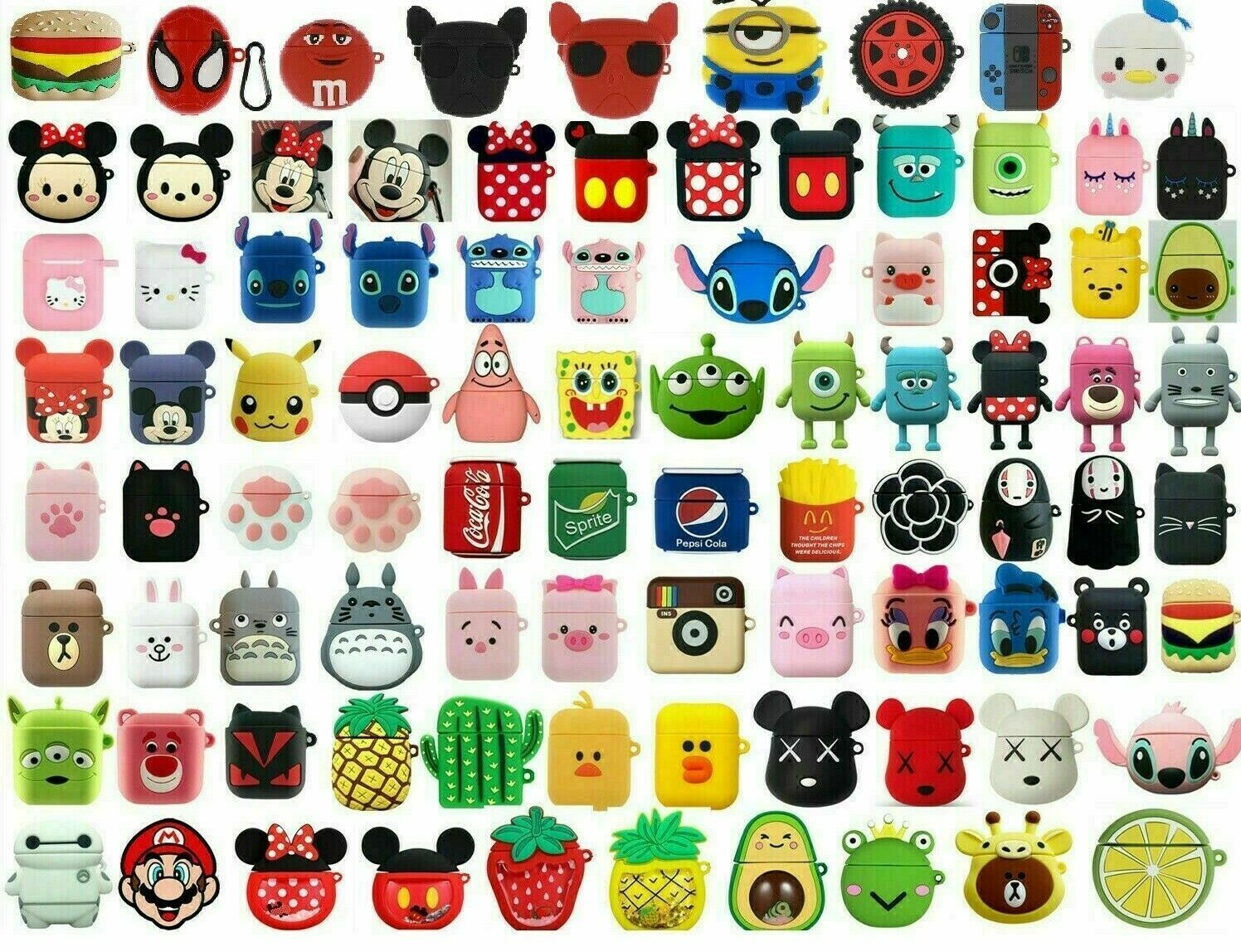 airpods silicone case cute 3d cartoon protective
