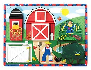 Melissa & Doug - Hide and Seek Farm Chunky Puzzle - 7 Pieces (New) 3727