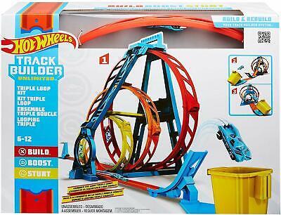 Hot Wheels Triple Loop Kit Race Track Looping Playset Track Builder Unlimited