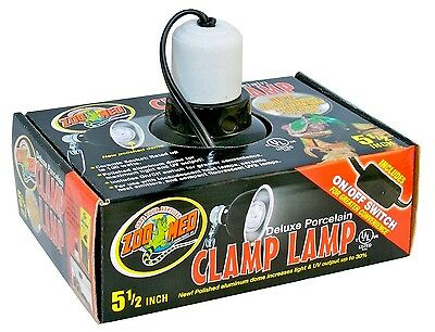 ZOO MED DELUXE PORCELAIN CLAMP LAMP 5.5 - Zoo Med Porcelain Clamp Lamp