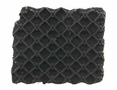 Bunta Stamped Wood Printing Textile Batik 16cm Antique Rajasthan India 9061