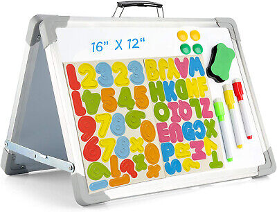 Magnetic Small White Board Foldable 12 X 16 Double-sided For Kids Students
