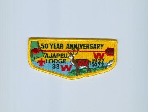 OA  Lodge 33 Ajapeu S4  50th anniversary light blue water flap