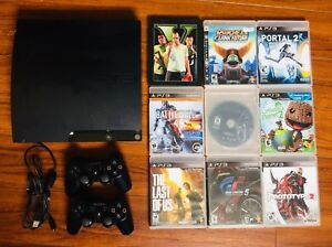 PS3 Console w/ 2 Controllers + 9 Games