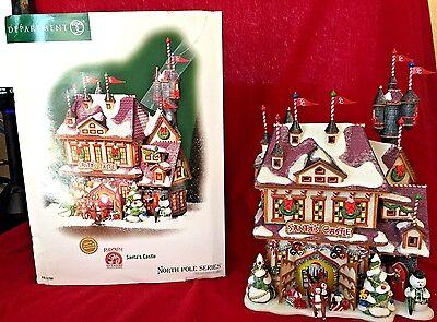Santas Castle Dept 56 North Pole Series #56768 Retired Christmas Snow Rudolph