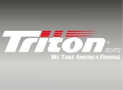 "Triton Boats Logo / 42"" Vinyl Vehicle Watercraft Fishing Graphics Decal Sticker"