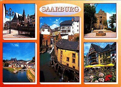 Saarburg , Ansichtskarte 1986 gelaufen