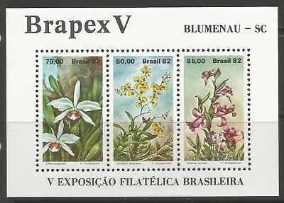 STAMPS-BRAZIL. 1982. BRAPEX V (Orchids) Miniature Sheet. SG: MS1949. MNH.