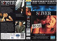 Sliver (1993) Vhs Ex Noleggio Thriller -  - ebay.it