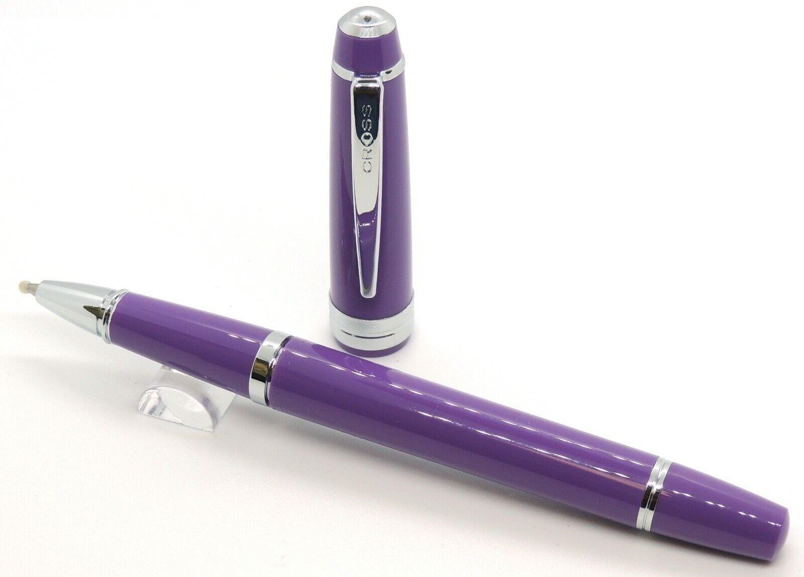 Cross Bailey Light Rollerball Pen, Polished Purple & Gold, New In Box Collectibles