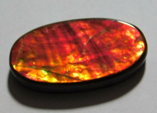 12.15 Cts. Natural Canadian Ammolite Cabochon Loose Gemstone 24X13X3.5MM CD03