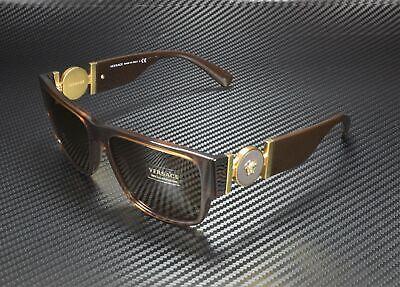 VERSACE VE4369 50283G Transparent Brown Light Brown 58 mm Men's Sunglasses