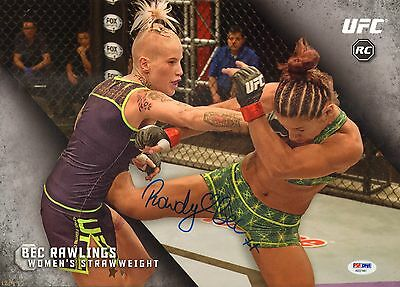 Bec Rawlings Signed Ufc 2015 Topps Knockout 10X14 Rookie Card Psa Dna Coa   49