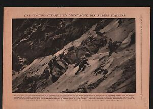 """WWI Alpins Alpinis Italia/Tommy Atkins War Trench Reims France 1918 ILLUSTRATION - France - Commentaires du vendeur : """"OCCASION"""" - France"""