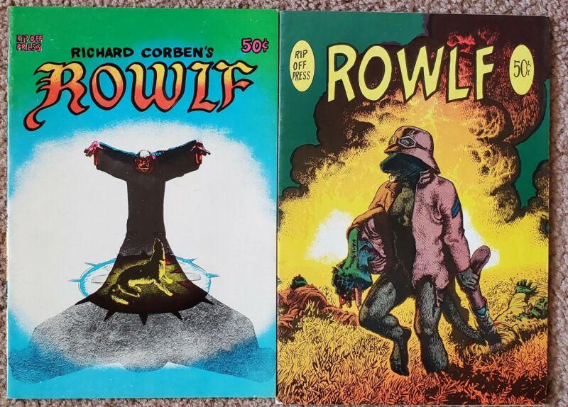 Rowlf 1st & 2nd Print (1971) Corben FINE Free Shipping!
