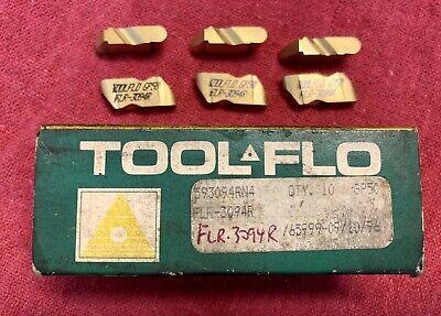 New Tool-flo Flr-3094r Gp50 Top Notch Grooving Carbide Inserts - Qty 9