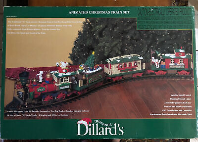 "Dillard's New Bright Holiday Express Animated Train set's box 383 ***Box Only""**"