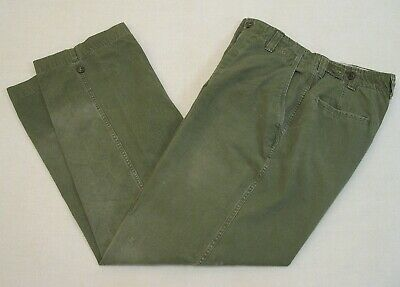 U.S. Army M1943 Field Pants 32 x 34 Original Nice Condition O,D, Cotton Trousers