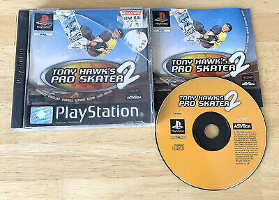 TONY HAWK'S PRO SKATER 2 SONY PS1 PLAYSTATION 1 PSX ORIGINAL BLACK LABEL TESTED