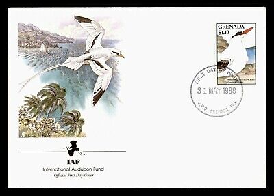 DR WHO 1988 GRENADA FDC IAF WHITE-TAILED TROPICBIRD  C224270
