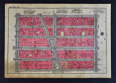 1934 New York City Map Herald Square Macy's Penn Station Empire State Building
