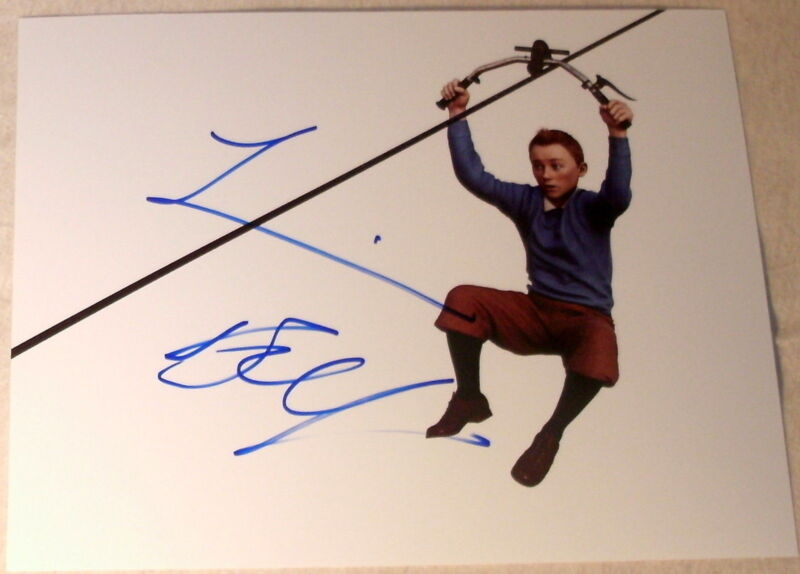 "JAMIE BELL SIGNED AUTOGRAPH BRAND NEW ""TIN TIN"" FLYING ZIP LINE PROMO PHOTO COA"