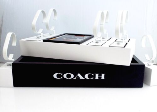 """Coach - 8 Watch Display, Base & Stock Pic -Measures 13"""" X 7 1/2"""" X 2 1/2"""" ~#6194"""