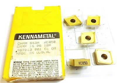 Kennametal CNMM 543M KC850 Carbide Inserts (QTY 5) (R 766)