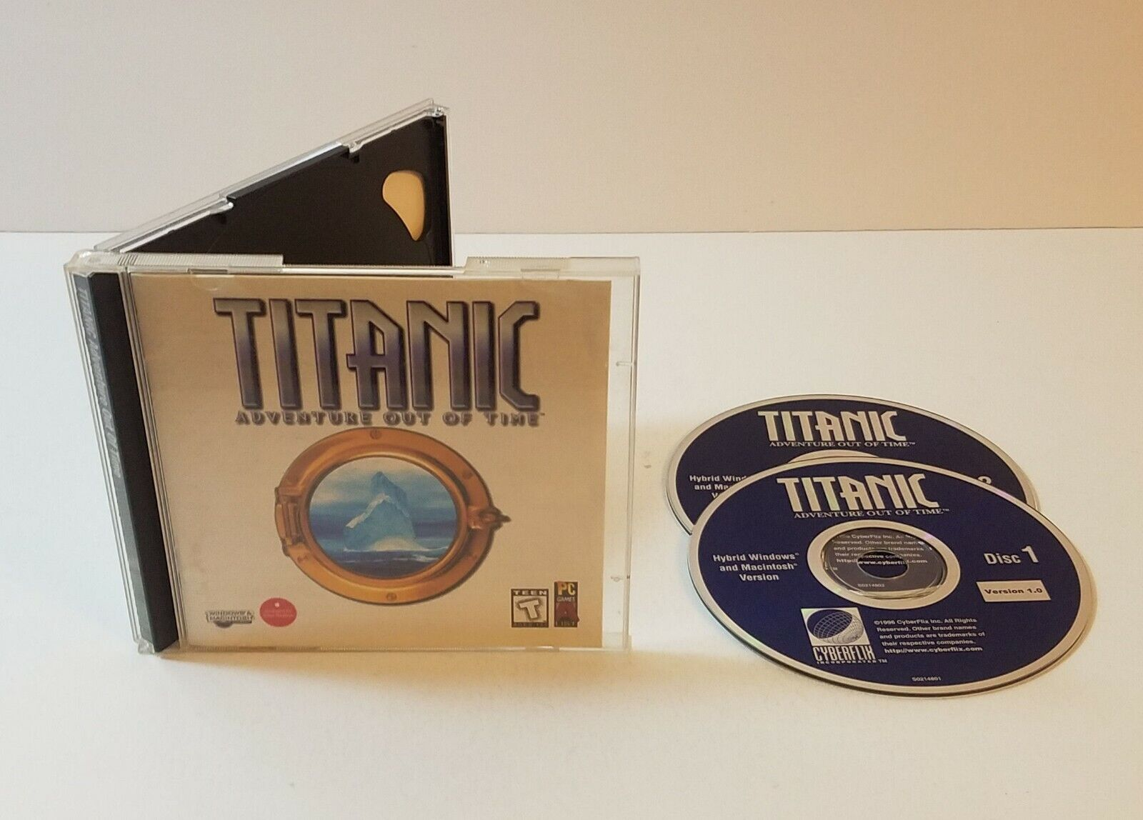 Titanic Adventure Out Of Time PC CD-Rom 1996 Windows Mac Adventure Game - $11.65