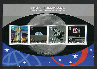 Gibraltar 2008 NASA 50th Anniv ss--Attractive Science/Space Topical (1157) MNH