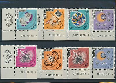 LO16055 Paraguay 1965 co-operation year corners MNH