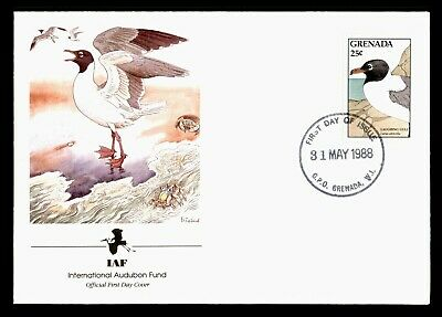DR WHO 1988 GRENADA FDC IAF LAUGHING GULL  C224268