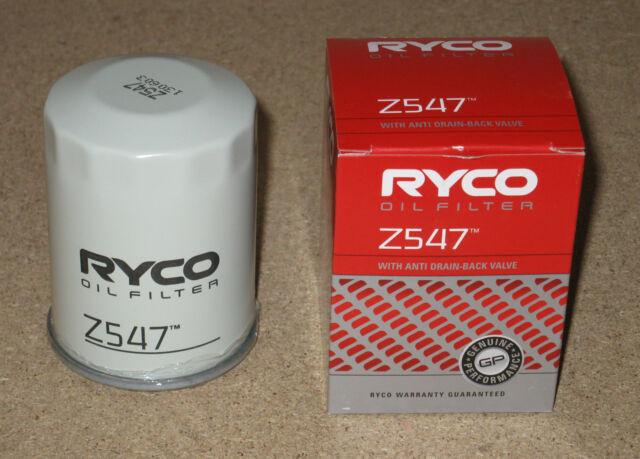 Z547 RYCO Oil Filter for HONDA Civic Accord Integra & NISSAN Pathfinder R51 D40