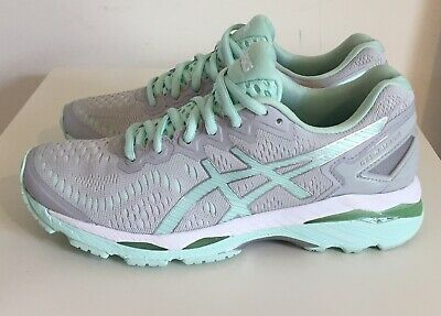 ASICS GEL-Kayano 23 Running Shoes Glacier Gray Bay White Women's Size 7 MINT!