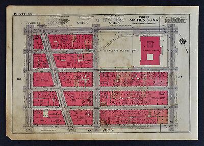 1934 New York City Map Bryant Park Library Metropolitan Opera Broadway & 42nd (Bryant Park Broadway)