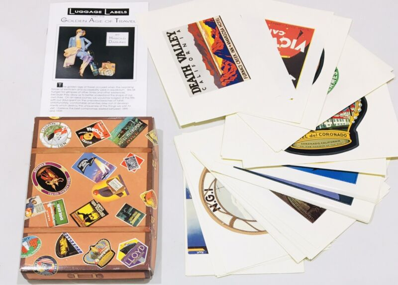 Tommy Bahama Vintage Hotel Luggage Labels Set 40 Golden Age Of Travel Stickers